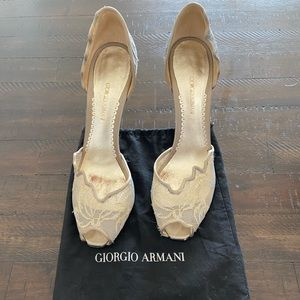 Giorgio Armani Cocktail Shoes Size 40.5